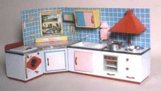 German 1961.  No English-but Fabulous pics of vintage dollhouses & rooms