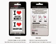 I love money & I love shopping 2-in-1 Microfiber Screen Cleaner Sticker for #phone #accessories #gifts #x-mas #batb #apple