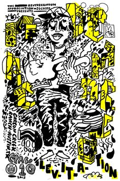 At. Cmrtyz, Poster for Mac Demarco Austin Psych Fest Levitation 2015
