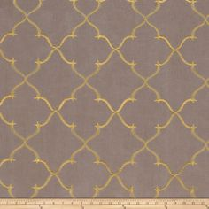 Fabricut Gladys Lattice Taffeta Shadow from @fabricdotcom  This taffeta has a low luster sheen and a crisp hand. Create accent pillows, window treatments, table tops and more.