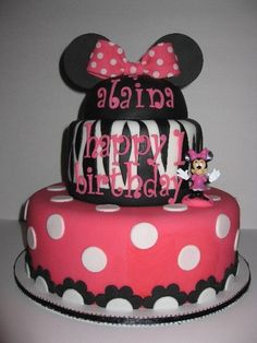 I love this cake from catchmyparty.com I have to get this made for my Alaina!
