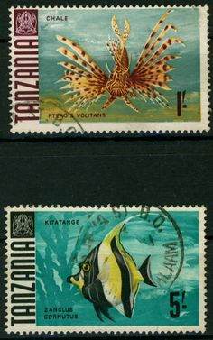 Fishes on Tanzania Stamps. More about stamps: http://sammler.com/stamps/