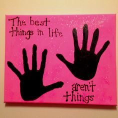 Handprint art. Great for Mother's Day or Father's Day presents.