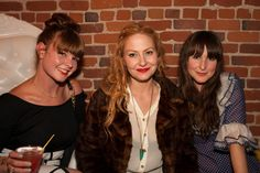 BellJar's Sasha Darling is flanked by two banged beauties, including Miss Ashley Ording (right).