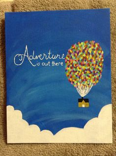 Up inspired canvas painting by DormRoomWillow on Etsy, $15.00