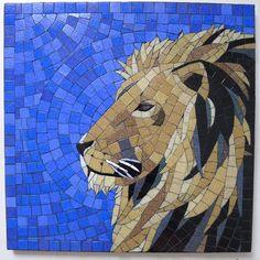 Mosaic Lion #mosaic #animals