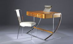Rene Herbst desk and chair 1929