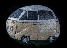 Rock On VW Bus painted by Maria Gracey
