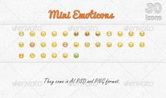 Mini Emoticons — Photoshop PSD #icons #smily faces • Available here → https://graphicriver.net/item/mini-emoticons/1194357?ref=pxcr