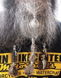 They are to hold the tube bead in place. Once tube bead is tightly in place on beard, push thin end of key inside center of hair inside tube, twist if you have to, to get it to stay inside tube, must be very tight to work properly. Beard Decorations, Beard Accessories, Beard Jewelry, Beard Beads, Beard Gifts, Dreads, Braided Hairstyles, Vikings, Dreadlocks