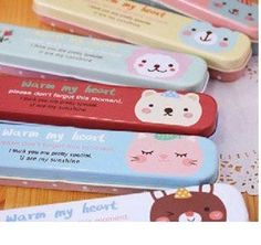 Hot selling Kawaii cartoon iron pencil case metal pencil case Tin storgae box Tin case pencil holder stationery set kid gift on AliExpress.com. $20.29