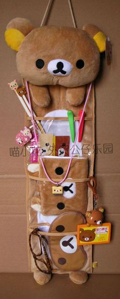 Organiza tus cosas con Rilakkuma! to store my extra school stuff that I have no place for