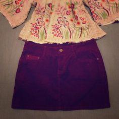SANTA GONE SALEH&M corduroy skirt Perfect for the fall. Burgundy. Waist - 15.5, length 13.5. H&M Skirts