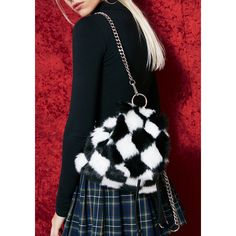 Current Mood Checkered Mini Backpack ($38) ❤ liked on Polyvore featuring bags, backpacks, checked bag, checkered backpack, miniature backpack, mini rucksack and knapsack bag