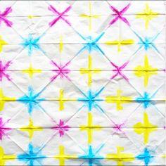 shibori style folding patterns