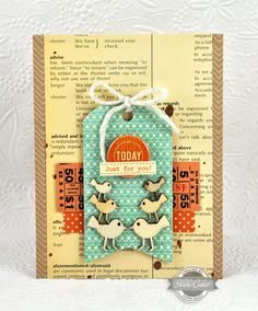 super cute, another card with the studio calico wood dies