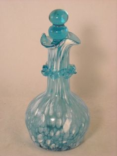 Vintage Fenton Perfume Bottle with Glass Stopper | eBay