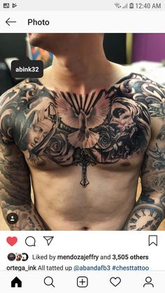 Small and Large tattoos ideas: Source Source Source Source Source Source Source Source Source Source . Chest Tattoo Drawings, Full Chest Tattoos, Torso Tattoos, Forearm Sleeve Tattoos, Hand Tattoos, Tatoos, Chest Piece Tattoo Mens, Eagle Chest Tattoo, Christ Tattoo