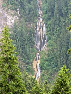 The Waterfall Horses - ROMANIA. An altitude of 1300 m and fall of water is 90 meters. Romania, Waterfall, Community, Horses, World, Places, Beautiful, Sweet, Waterfalls