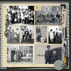 wonderful heritage scrapbook layout by Poffles from DSP