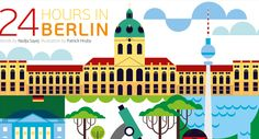 In the June 2013 issue the focus is on a comprehencive 24 hours in Berlin guide. Patrick Hruby's created the illustration design.