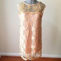 HP🎉 NWT Peach Floral-Embroidered Dress NWT Peach Floral-Embroidered Dress | Lined. Kate's Dresses Midi