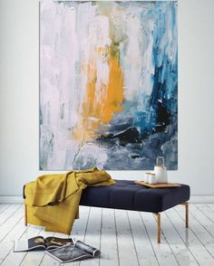 Large Colorful Abstract Art Print