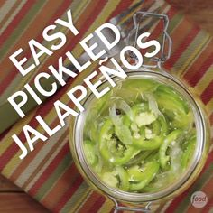 Homemade pickled jalapenos are a treat to have on hand for chilis, tacos, salads and sandwiches. Pouring hot brine over them instead of boiling them gives them a pleasant fresh crispness instead of the soft texture of the store-bought variety.