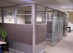 Pros Install's Tips for your business: Ethospace Cubicles with glass doors Office Cubicle Design, Cubicle Partitions, Cubicle Walls, Sound Proofing, Working Area, Glass Doors, Office Cubicles, Furniture, Herman Miller