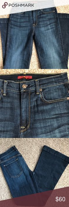 76362aba5f9 EUC 7 for All Mankind Ginger Jeans 7 For All Mankind Ginger Flair dark wash  denim jeans. Size I may have worn them - but more than likely I just cut  off ...