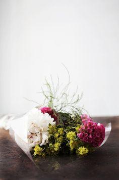 flower bouquet by caitlin van horn Nothing But Flowers, My Flower, Fresh Flowers, Beautiful Flowers, Simple Flowers, Planting Flowers, Floral Arrangements, Cactus, Bouquet Flowers