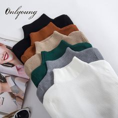Cheap women sweaters and pullovers, Buy Quality women sweater directly from China knitted sweater Suppliers: Ordifree 2017 Autumn Winter Pull Femme Cashmere Knitted Sweater Slim Jumper Turtleneck Warm Soft Women Sweaters and Pullovers Jumpers For Women, Sweaters For Women, Sweater Set, Winter Outfits Women, Looks Vintage, Slim Fit, Pulls, Ideias Fashion, Turtle Neck