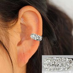 Full Rhinestone Ring Ear Cuff(Single, No Piercing) | LilyFair Jewelry, $10.99!