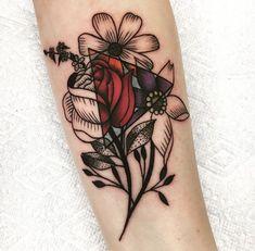 My Wife's fresh floral stippling tattoo by Alexx Colombo @ Tattoo Lou's Selden N… Das frische Blumen-Tattoo meiner Frau von Alexx Colombo @ Tattoo Lou's Selden NY Neue Tattoos, Body Art Tattoos, Tatoos, Tattoo Hip, Tattoo Forearm, Tattoo Music, Lotus Tattoo, Stippling Tattoo, Piercings