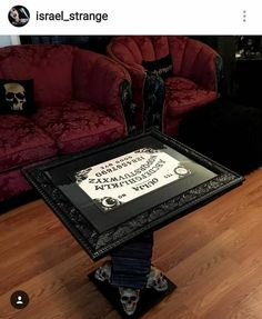 Picture frame turned into a coffee table! Think of the possibilities!!