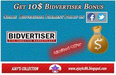#Bidvertiser $10 Free Promotional Bonus Computer Problems, Android Hacks, Tech, Free, Tecnologia, Technology