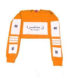 Orange Cropped Sweatshirt High Street Brands, Sweatshirts, Collection, Orange, Red, Trainers, Sweatshirt, Sweater, Hoodie