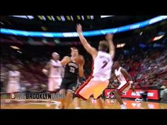 Mirza Teletovic Does his Best Blake Griffin Impression