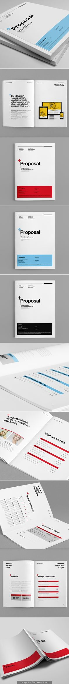 Proposal Template Suisse Design with Invoice - created via… Layout Design, Design Visual, Graphisches Design, Buch Design, Print Layout, Page Design, Editorial Design Layouts, Typography Design, Branding Design