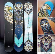 7a30dfa0e94f A  Snow Beasts  MINI and Custom Burton Snowboards by Illustrator Andreas  Preis