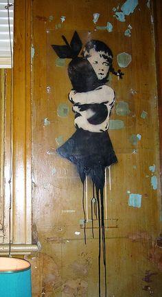 """Street art """"Bomb Hunger"""" (Revolver, Melbourne, Australia) by Banksy"""