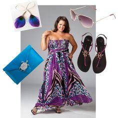 Plus Size Fashion Purple & Aqua by plus-size-fashion-dwhite1 on Polyvore featuring Giuseppe Zanotti, Wilbur & Gussie, Cole Haan and plus size fashion purple & aqua