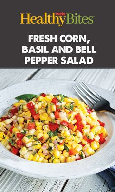 This easy summer side is sure to be a hit. Find the recipe on our website or app. Bell Pepper Salad, Healthy Foods, Healthy Recipes, Chana Masala, Basil, Salads, Pork, Nutrition, Beef