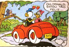 Pato Donald e Margarida comemoram o Dia dos Namorados, ilustração Walt Disney.