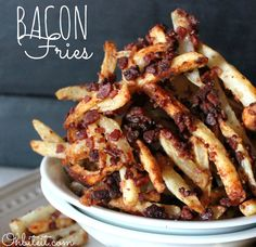 Might try a slimming world version of this! Bacon Fries!Oh me oh my!!!
