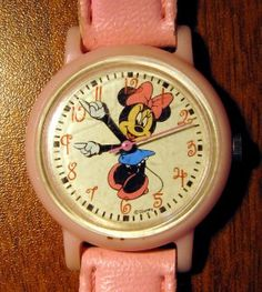 vintage minnie mouse watch.