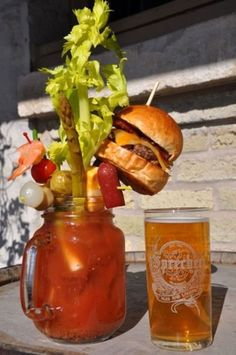 Ultimate Bloody Mary- love the hot dog, shrimp, and burger!!