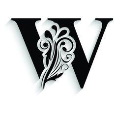 Letter W, Black Letter, Flower Alphabet, 3d Street Art, Wood Carving Art, Kirigami, Tribal Tattoos, Laser Cutting, Royalty Free Images