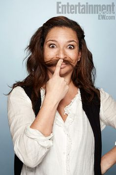 """Maya Rudolph making a goofy face at Sundance for her film, """"The Way, Way Back."""""""