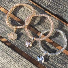 NewElephant Bracelets! Cute elephant bracelets selling as a set! Colors: silver, rose gold, gold. Not real gold, bracelets flex. Jewelry Bracelets